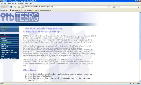 website KK Teknik Telekomunikasi lama